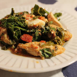 Chicken Casserole with Kale, Roasted Tomato and Ricotta.