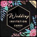 Wedding card invitation maker : greeting card rsvp icon