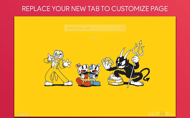 Cuphead Wallpaper HD Custom New Tab