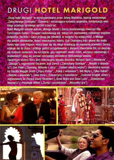 Tył ulotki filmu 'Drugi Hotel Marigold'