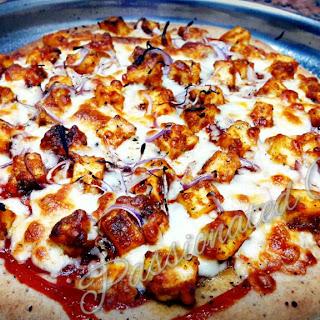 Sourdough Paneer Tikka Pizza