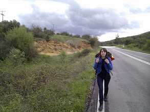 Photo: hitch-hiking on the way to Zagorahora mountains and their villages