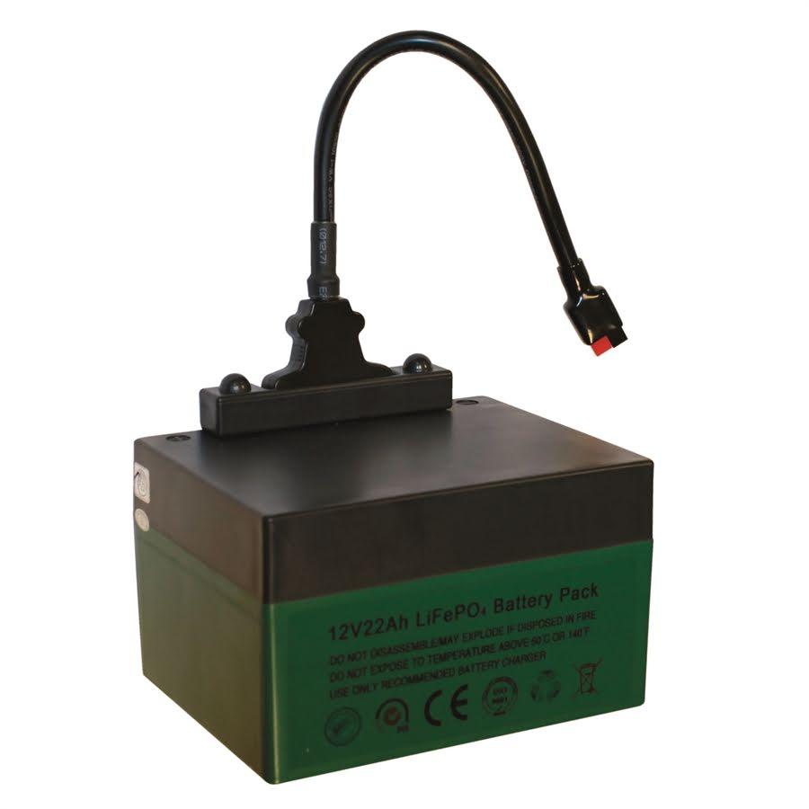 Golfvagnsbatteri Lithium 12V, 22Ah med laddare