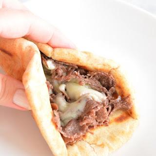 Philly Cheese Steak Pita Sandwich.