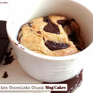 Molten Chocolate Chunk Mug Cakes