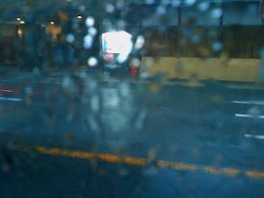 Photo: Rain from bus