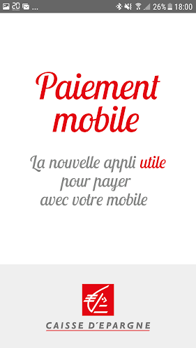 Paiement mobile Android App Screenshot