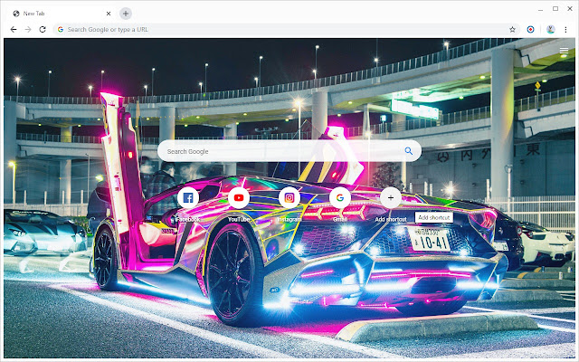 Neon Cars Wallpapers New Tab
