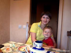 Photo: Alex's wife Yelena and their son Igor
