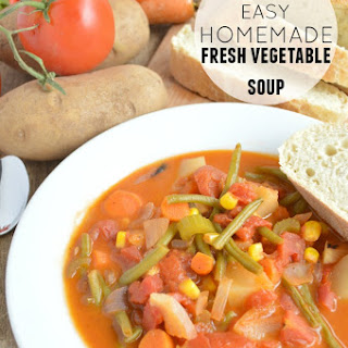 Homemade Fresh Vegetable Soup