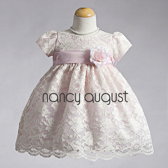 Photo: Special #Occasion Lace #Infant #Dress: This special occasion lace infant dress is sharp and a absolute classic. The style of this infant dress is simple but the #sophisticated lace overlay transforms this simple style into a uptown swanky dress. This infant dress features a cap sleeve bodice with lace over ivory or pink taffeta. A dainty waist sash with a delicate detachable flower is the perfect accent! This lace infant dress is versatile and will be perfect for any special occasion. This dress is available in infant, toddler, and little girl sizes. Be sure to visit our accessories collection to complete the ensemble!