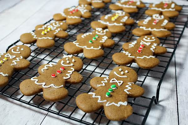 Decorated Gingerbread Cookies.