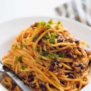 Instant Pot Taco Spaghetti.