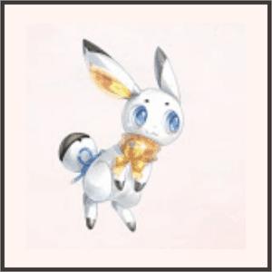 輝く白ウサギ