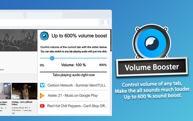Volume Booster Sound Booster For Chrome