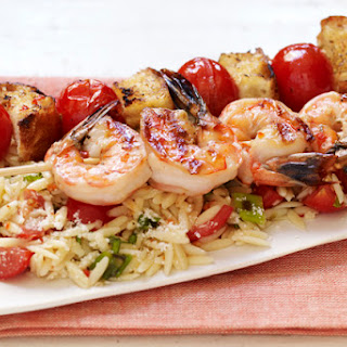 Shrimp Bruschetta with Orzo Pasta