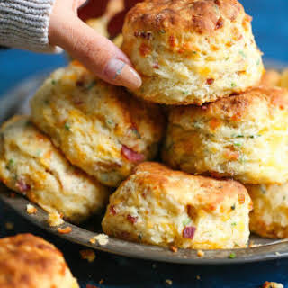 Bacon Cheddar Chive Biscuits.