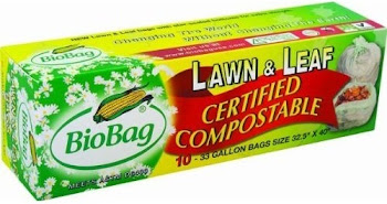 Biobags Wholesale Biobag Compostable Large Lawn Leaf Waste Bags - 33Gal, Pack of 12