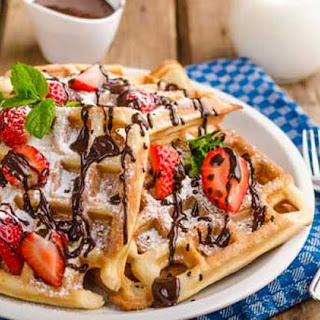 Very Berry Chocolate Chip Waffles