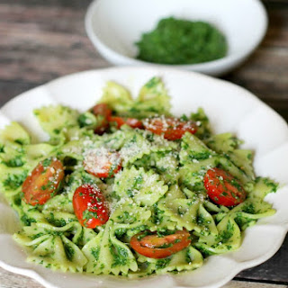 Healthy Kale Pesto Pasta