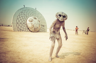Photo: The Grey emerges onto the desert playa... just another day at Burning Man... I have all the hi-res photos btw at http://stuckincustoms.smugmug.com/Burning-Man-Page  #BurningMan  This is the amazing son of the amazing +Cliff Baise who has some crazy-ass DNA.