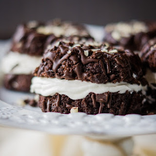Chocolate Bundt Cakes with Marshmallow Fluff Buttercream.