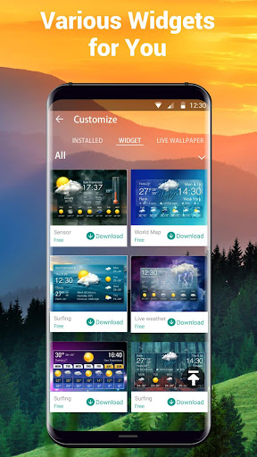 live weather widget accurate for PC