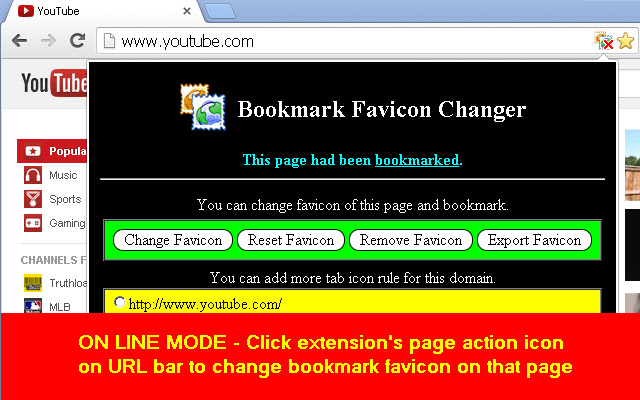Bookmark Favicon Changer
