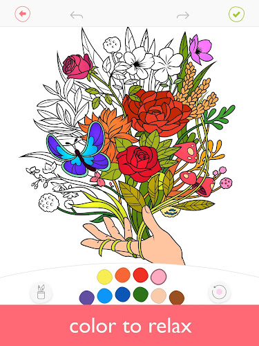 Colorfy: Coloring Book for Adults - Free Android App Screenshot
