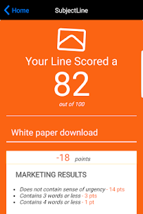 Subject Line- screenshot thumbnail