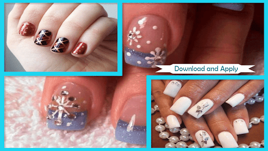 Stunning Snowflake Nail Art Design - náhled