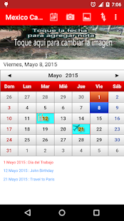 Mexico Calendario 2015 - screenshot thumbnail