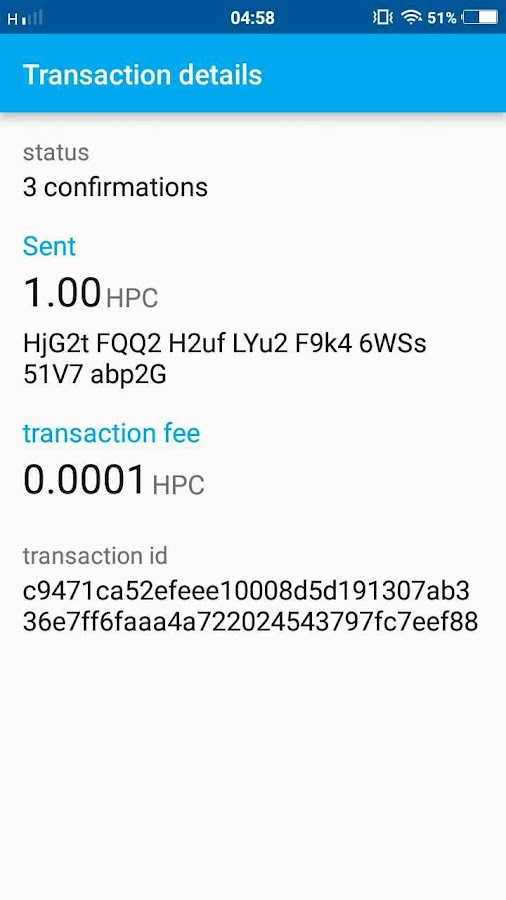 Happycoin Wallet- screenshot