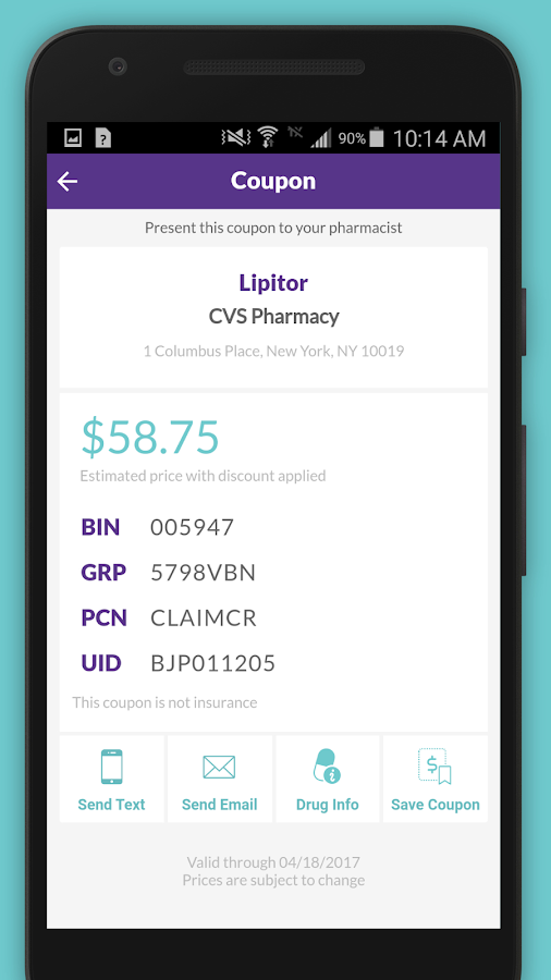 SearchRx- screenshot