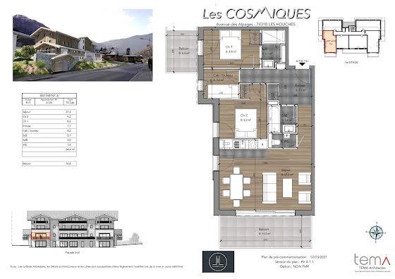 Vente appartement 4 pièces 64,4 m2