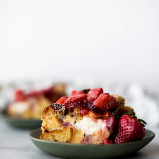 Strawberries 'n' Cream French Toast Casserole.