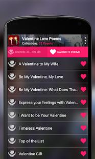 valentines love poems screenshot thumbnail
