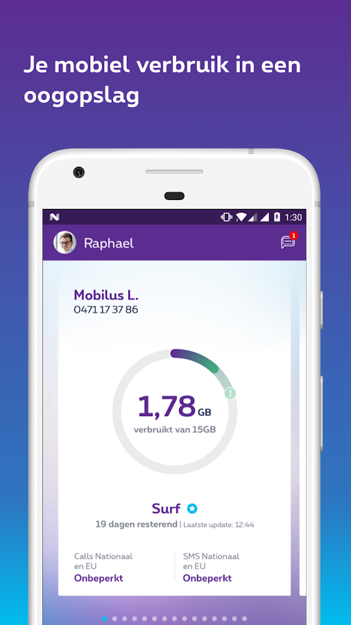 MyProximus: screenshot