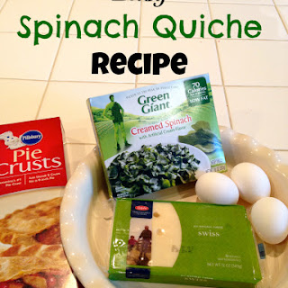 Easy Spinach Quiche.