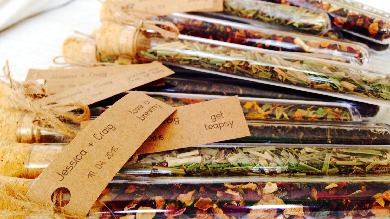 wedding favours - tea tubes