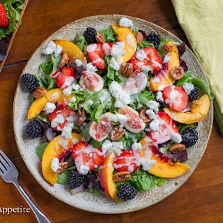 Fig Strawberry Goat Cheese Salad