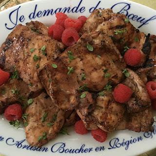 Grilled Raspberry Chicken Thighs