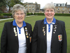 Photo: Lady Vice Captain - Eileen Straine &  Lady Captain - Rosemary McWilliam