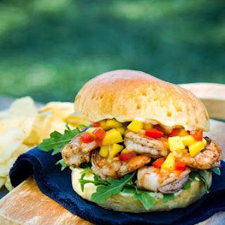 Jerk Shrimp Sandwich.