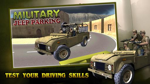 军用吉普停车 - 3D