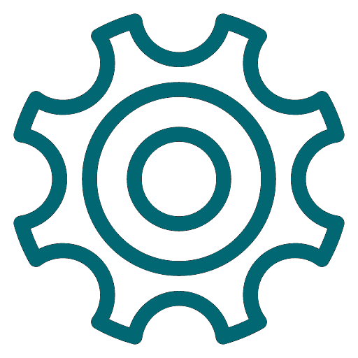 Teal Gear Icon