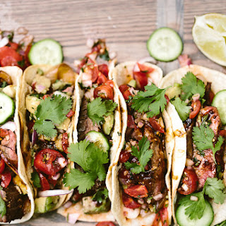 Grilled Flank Steak Tacos.