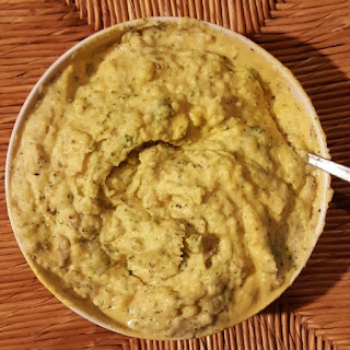 Cashew Cheesy Broccoli Mashed Potatoes