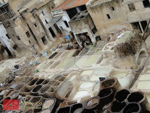 Photo: the well-known leather tannery in Fes... i bought here the best leather jacket