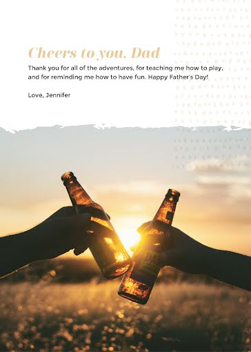 Cheers to You, Dad! - Father's Day Card Template